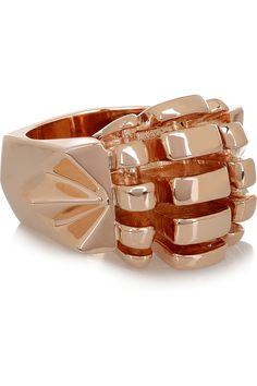 Dominic Jones  Scarab 23-karat rose gold-plated ring