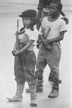 Children train for MPLA in Angolan War 1976