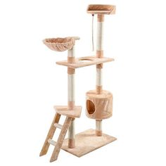 "New 60"" Cat Tree Tower Condo Scratcher Furniture Kitten Pet House Hammock"