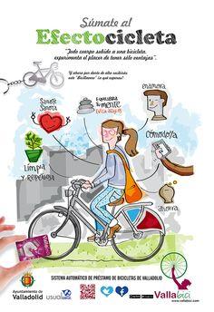 """Ilustración campaña """"Efectobicicleta"""" By Pablo Gallardo"""