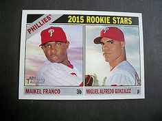 2015 Topps Heritage #254 Maikel Franco / Miguel Gonzalez RC Phillies NM/MT