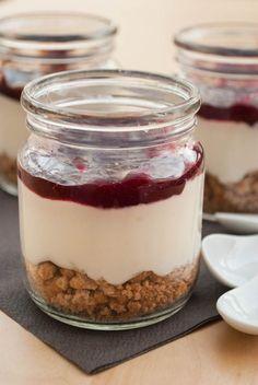 Käsekuchen-Dessert im Glas (ohne Backen)