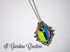 """Collana cammeo """"Color your life"""" : Collane di giardino-creativo"""