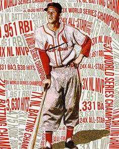 An Artistic Look at Major League Baseball - Stan Musial - Photo: Art by Kerry Laster
