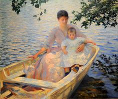 Mother And Child In A Boat, * 1892 * Edmund Charles Tarbell, American, 1862–1938 * United States . MFA, Boston | Flickr - Photo Sharing!