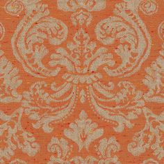 ANICHINI Fabrics   Stintino Orange Residential Fabric - an orange linen jacquard fabric
