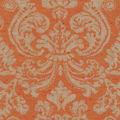ANICHINI Fabrics | Stintino Orange Residential Fabric - an orange linen jacquard fabric