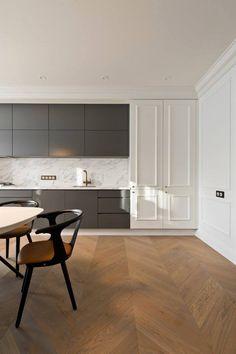 Kombi af grå fronter og marmor på væg! Vil have greb på fronter. Home & Kitchen - Kitchen & Dining - kitchen decor - http://amzn.to/2leulul