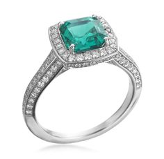 Mark Patterson - Platinum & Green Emerald Ring