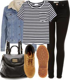 Jaqueta jeans+listras+timberland