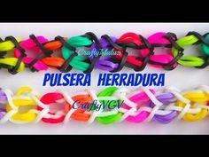 Tutoriales:♥ Pulsera herradura de gomitas/ligas