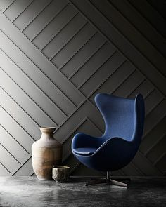Fritz Hansen egg chair, for a living room decoration Living Room Chairs, Furniture, Chair, Interior, Wallpaper Accent Wall, Egg Chair, Furniture Chair, Home Decor, Living Room Furniture
