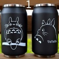 Product name: high quality stainless steel totoro keep-warm glass Capacity: 260 ml Height: 13.5 cm D