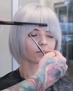 Platine blonde short haircut inspiration by talented Wesley Palmer Bob Hairstyles For Thick, Haircuts For Fine Hair, Easy Hairstyles, Boy Haircuts, Hairstyle Men, Layered Haircuts, Formal Hairstyles, Short Haircuts, Haircut And Color