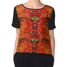 'Inca Nature' Women's Chiffon Top available at http://www.redbubble.com/people/chrisjoy/works/12610344-inca-nature?p=chiffon-top