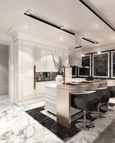 20 Luxus Deko Ideen Innenarchitekt Konstantin Frolov in 2020 Rustic Kitchen Design, Home Decor Kitchen, Kitchen Interior, Luxury Home Decor, Luxury Interior, Küchen Design, Home Design, Interior Decorating, Interior Design