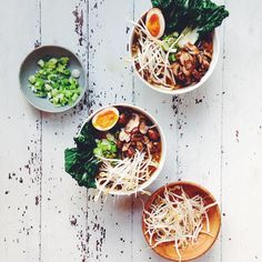 mushroom udon - shiitakes, onion, shallots, garlic, ginger, green onion scraps, shallot skins, vegetable stock, and soy sauce, egg