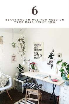 A beautiful work space drives inspiration and productivity, here are 6 items you need on your desk right now to motivate you to actually start doing some work! Click thru to see my top picks!