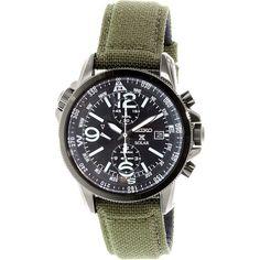Seiko Men's SSC295 Olive Nylon Quartz Watch