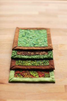 quilted coasters  summer woodlands by btaylorquilts on Etsy, $15.00
