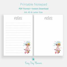 Summertime Printable Planner Printable Notes Journal Planner