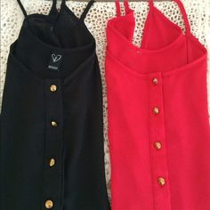 Windsor Sheer Tank Tops Two gorgeous dressy tops for the price of one! Beautiful dressy black tank with front tie, sheer, size large. Red top is free! The red tank has tags cut out, but is XL, so slightly bigger than the black one. These two elegant tops are in perfect condition and will turn heads! ❌ Trades ❌ PayPal   Bundle and save on shipping!! WINDSOR Tops