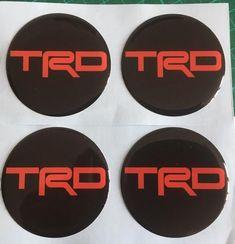 TRD Racing x4 Dome Stickers Car Badge Decal Interior Logo Supra Celica Starlet