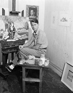 paul cadmus in his studio.