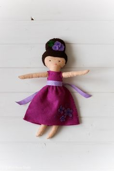 Handmade felt doll from Darling Dollies - Felt Sew Good | Radiant Home Studio - sewing projects for kids. Learn how my daughter made this on her own!