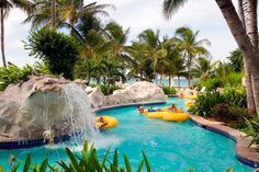 Top Resorts with Lazy Rivers, Cool Pools & Swimming Holes. Photo Courtesy of Hilton Rose Hall, Montego Bay, Jamaica