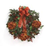 Found it at Wayfair - Fall Wreath with Hydrangeas and Berries