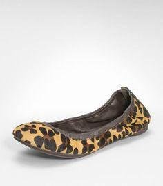 Tory Burch Leopard Eddie Ballet Flat $198