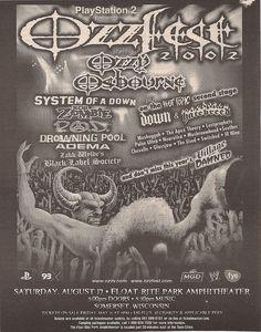 08-17-02 OzzFest 2002 @ Somerset, WI  the last Ozz Fest I went to ....I miss OzzFest!!