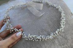 Екатерина Поступаева Ribbon Jewelry, Cute Jewelry, Hair Jewelry, Bridal Jewelry, Jewellery, Silver Accessories, Wedding Hair Accessories, Trendy Accessories, Handmade Wire Jewelry