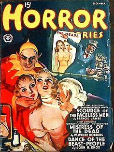 Horror Stories Magazine December 1940.