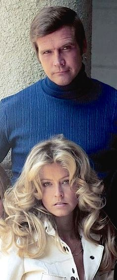 Lee Majors - Six Million Dollar Man with his, then, wife, Farrah Fawcett-Majors - a Charlies Angel