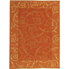Safavieh Indoor/ Outdoor Oasis Terracotta/ Natural Rug (5'3 x 7'7)