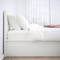 This bed gives you spacious storage without taking up more floor space. Simply flip up the bed base and hide your things inside. Place it freestanding or with the headboard against a wall. Mattress Springs, Foam Mattress, Bed Storage, Storage Spaces, Ikea Malm White, Ottoman Bed, White Ottoman, Ikea Storage Cabinets, Bed Base