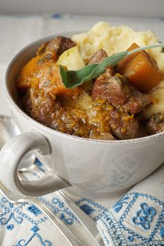 lamb stew with butternut, apples and ginger