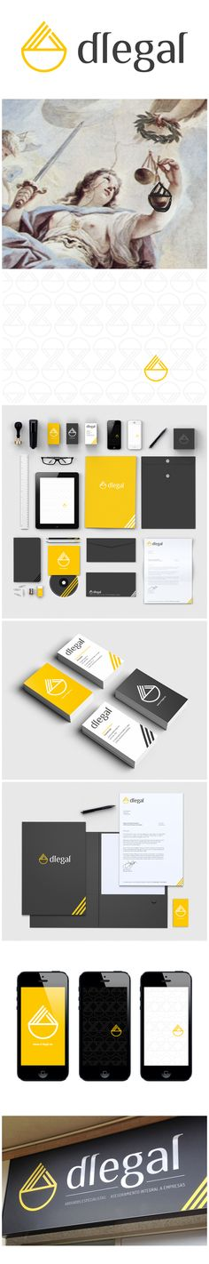 Logo design and corporate identity for Dlegal's law firm.