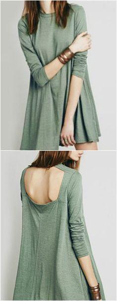 Open back green dress (Diy Ropa Kawaii) Yohji Yamamoto, Look Fashion, Fashion Outfits, Magnolia Pearl, Mode Vintage, Look Cool, Passion For Fashion, Dress To Impress, Autumn Winter Fashion
