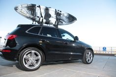 The Channel Kayaks Bass Kayak on the Audi Q5