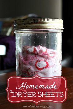 For the longest time I was using plain white vinegar as a fabric softener in the wash, but I started to miss having that fresh smell that store bought fabric softeners provided. So, I thought I'd try my hand at creating my own homemade dryer sheets!...