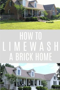 Diy Exteriors How To Limewash A Brick Home For The Exterior House Siding Colors For Houses, Exterior Paint Colors For House, Diy Exterior, Home Exterior Makeover, German Schmear, Painted Brick Exteriors, Trendy Home Decor, Diy On A Budget, Home Renovation