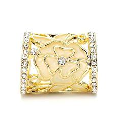 Spona na šatku - Flower Tube vyrobená zo zliatiny Scarf Rings, Silver Plate, Snake, Gold Rings, Tube, Rose Gold, Jewels, My Style, Flowers