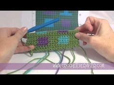 This video will walk you through the basics for intarsia crochet. You will learn the difference between intarsia, fair isle and tapestry crochet. You will learn about some tools that will make intarsia Tunisian Crochet, Learn To Crochet, Filet Crochet, Diy Crochet, Crochet Stitches, Crochet Patterns, Youtube Crochet, Change Colors In Crochet, Crochet Boarders