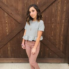 I love this outfit so much!!! The colors the shirt and pants so pretty, love Bailey!!! She is so pretty. #brooklynandbailey
