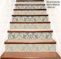 Merveilleux Decorative Brocade Vinyl Stair Riser Decals By Crowbabys On Etsy