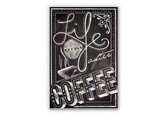 "Tableau Forex ""life beginns after coffee"". Disponible en plusieurs tailles sur www.wall-art.fr"