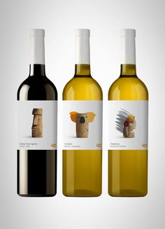 Very nice, playful wine labels. By spanish design studio Lavernia & Cienfuegos.